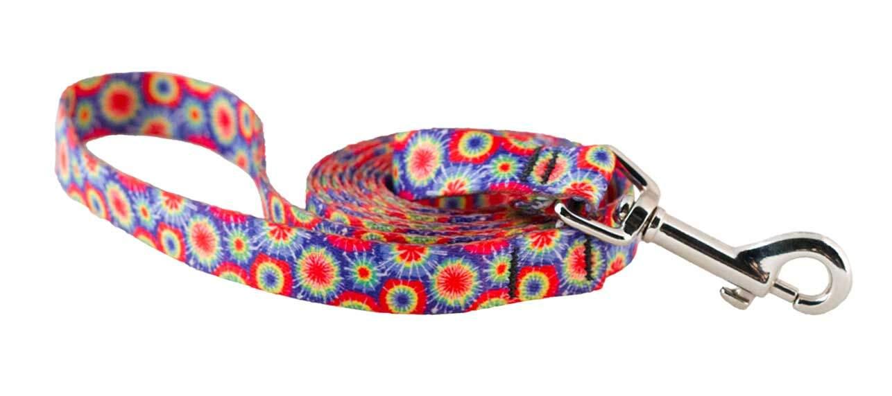 Small Tie Dye Dog Leash