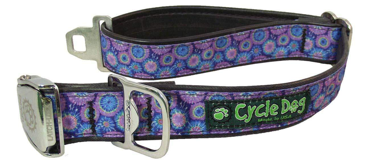 Purple Tie Dye Dog Collar