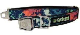 RegularWidth Collar Metal-Teal Paint Splatter