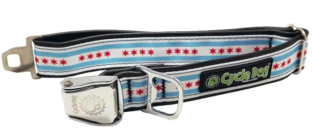 City Of Chicago Flag Dog Collar