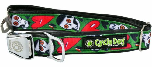 Tattoo Skulls Dog Collar