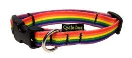 Small Rainbow Pride Dog Collar