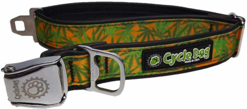 Cannabis Gold Dog Collar