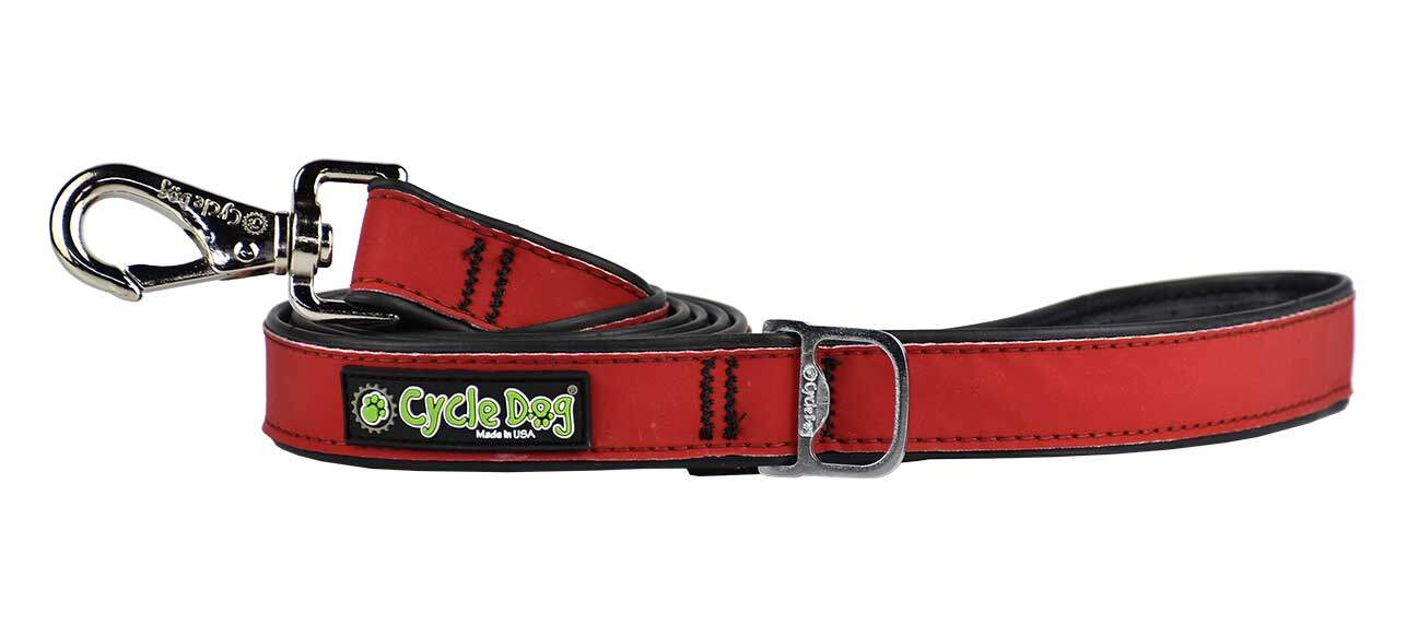 Red Max Reflective Dog Leash